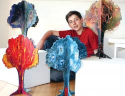 Isy Mekler with his Giving Trees